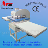 Pneumatic Big Format Double Stationheat Press Machine 60*80cm Automatic Bottom Glide Heat Transfer Machine Hot Sale T Shirt Transfer Printing Machine Stc-Qd07