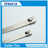Uncoated Stainless Steel Roller Ball Lock Type Cable Ties 300X4.6