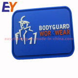 Embossed Heat Custom Brand PVC Label Tag for Clothing