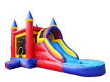 Commercial Inflatable Bouncy Castle with Water Slide Chsl296