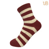 Women′s Thick Warm Stripe Cotton Sock