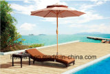 Outdoor /Rattan / Garden / Patio /Hotel Furniture Rattan Lounge Chair & Side Table Set (HS1718CL &HS 7203ET)