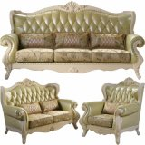 Factory Wholesale Wooden Sofa with Optional Color and Seaters (818)