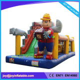 Inflatable Repairman Slide with Obstacle Course for Kids (JOY5-100)