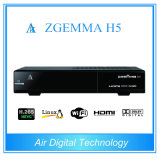 Hevc H. 265 HD Receiver Zgemma H5 with Combo DVB-S2+Hybrid DVB-T2/C Tuners Digital TV Receiver