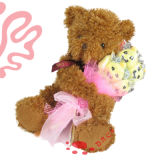 Plush Bear with Flower Toy