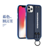 Facroty Price Custom Design Wrist Strap Holder PU Mobile Phone Case Mobile Phone Back Cover Phone Accessories Case for iPhone 11 iPhone PRO Max Case