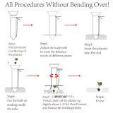 Ilot Long Handled Manual Bulb Planter for Vegetables Seedling Transplanter
