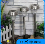 Set of 3 PCS Stainless Steel Solar Power Garden Light for Pathway