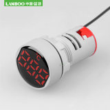 Lanboo Ad101-22TM 22mm Panel Installation LED Indicator Light Digital Display Cylindrical Thermometer