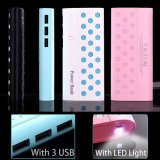 Beehive Design High Capacity Power Bank 10000mAh with LED