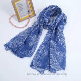 Fashion Pasiley Pattern Printed Polyester Lady Scarf (HV07)