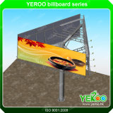 Three Sided Advertising Billboard Steel Structure Sign Display