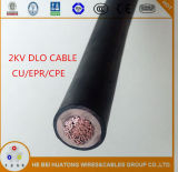 UL44 Epr Insualted and CPE Sheathed Dlo Cable 4/0AWG 2kv with UL Listed