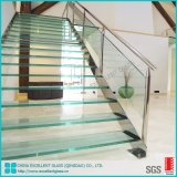 6mm 8mm Skid Proof Clear Toughened Glass Sheet Glass for Stair Steps/Sound Proof Glass Price