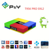 T95k PRO Amlogic S912 Android TV Box Octa Core Kodi Dual Band WiFi Bt 4.0 Uhd 4k H. 265 Vp9 Hdr 3D Media Player