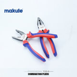 Diagonal Cutting Combination Bent Nose Pliers with Two Color Handle