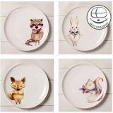 Colorful Dinner Plate Sublimation Ceramic Plate with Customer's Photos, Photo Printing Ceramic Plate, Custom Ceramic Plates
