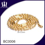 Fashion Colorful Electroplating Gold Ball Chain