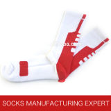 Men′s Professional Cotton Elite Basketball Socks