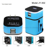 World Universal Travel Adapter with LED Logo for Promotion
