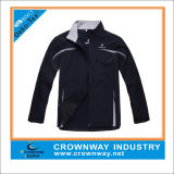 Fashion Mens Waterproof Softshell Jacket with Contrast Color