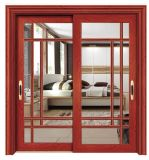 Aluminium Sliding Interior Door with Double Tempered Glazing for Balcony