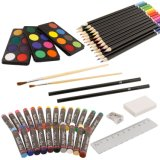 82 Piece Deluxe Art Creativity Set in Wooden Case