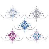Rhinestone Face Body Jewelry Sticker Crystal Tattoo Nipple Crystal Body Gem Stones Bindi Stickers