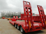 Low-Bed Semi-Trailer with 70tons Payload Heavy Duty Truck Trailer Tractor Trailer