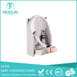 Top Quality Wall Mounted Folding Child Protection Seat for Bathroom, Safety Folding Baby Changing Table / Seats for Bathroom
