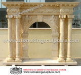 Hand Carved Marble Fireplace for Indoor (SK-2523)