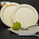 Biodegradable Salad Plate Biodegradable Sugar Pulp Single Circular Plate