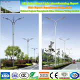 Outdoor 6m Galvanized Stainless Steel Curved Road Street Light Pole