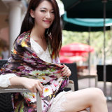 Silk Digital Printed Scarf for Lady (12-BR110303-9)