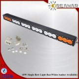 "IP67 32"" Single Row 180W CREE LED Light Bar with White&Amber Lighting"