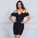 Bandage 2017 Sexy V Neck Strap Mini Dress