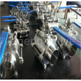 Stainless Steel Sanitary Butterfly Weld Three Piece Ball Valve