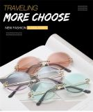 Kenbo Hot Selling Rimless Cutting Edge Sunglasses Women Colorful Vintage Oval Sunglasses