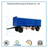 China 2 Axles Side Wall Full Trailer with Drawbar