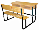 (GT-58) Wooden School Student Double Desk and Bench of Classroom Furniture