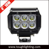4 Inch CREE Spot Flood Beam Dual Row Offroad 18W LED Work Light Bar