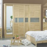 Good Price Modern Bedroom with Mirror Wood Bedroom Wardrobe Designs