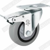 Medium Duty Single Bearing Tpp Caster with Top Brake (Gray) (G3117)