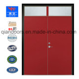 2018 Hot Sale Steel Room Double Door Fireproof Door with Glass View