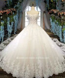 Aolanes A Line off Shoulder See Through Wedding Dress