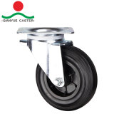 """8"""" European Type Industrial Casters, Rubber Waste Bin Caster with Plastic Rim"""