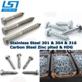High Strength DIN571 Stainless Steel Carbon Steel Coach Screw Hex Lag Wood Screw