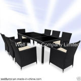 Rattan Garden Furniture Dining Table and 8 Chairs Dining Set