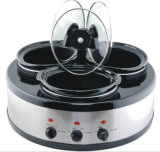 Hot Sale Round Shape Triple (3X1.6qts) Slow Cooker Buffet